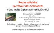 Dimanche 21 mai 2017, repas solidaire et animations