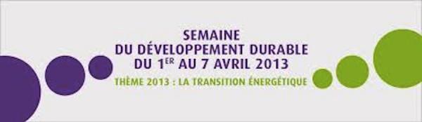 Semaine du développement durable avril 2013