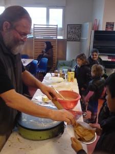 Chandeleur 2014 préparation des crêpes