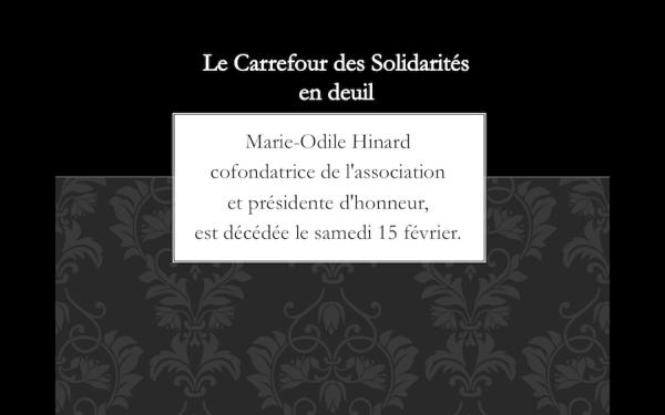 Carrefour des Solidarités en deuil