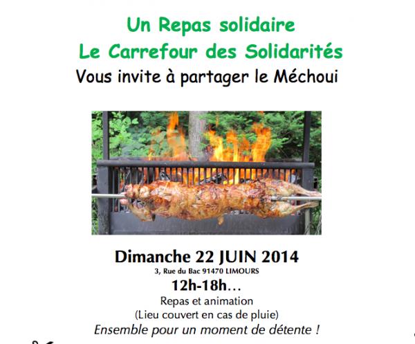 Dimanche 22 juin 2014, repas solidaire