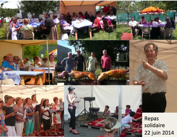 Repas solidaire, dimanche 22 juin 2014,  très réussi