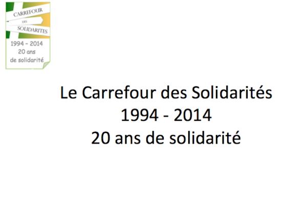 Carrefour des Solidarités 20 ans au service des plus démunis