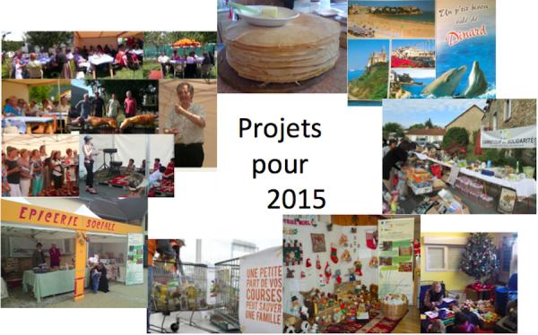 Manifestations et animations en projet pour 2015