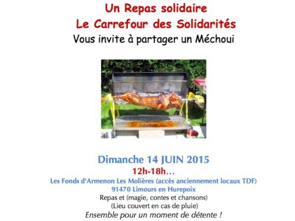 Dimanche 14 juin 2015, repas solidaire et animations