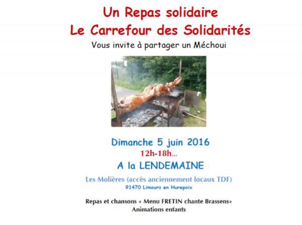 Dimanche 5 juin 2016, repas solidaire et animations