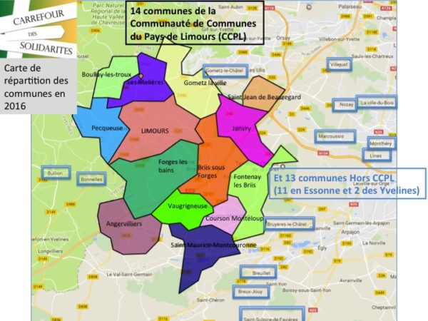 Liste des communes en 2016