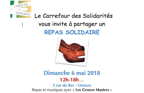 Dimanche 6 mai 2018, repas solidaire et animations