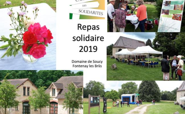 Dimanche 16 juin 2019 : Repas solidaire à Soucy