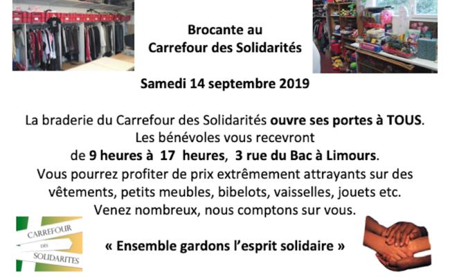 Samedi 14 septembre 2019: Brocante exceptionnelle au CdS