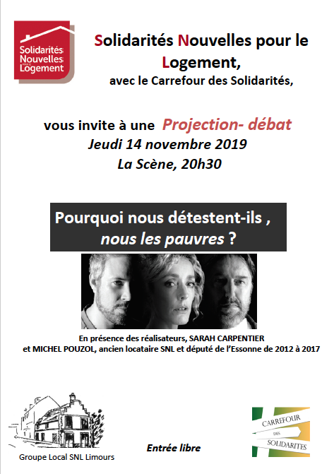 Projection-débat jeudi 14 novembre 2019