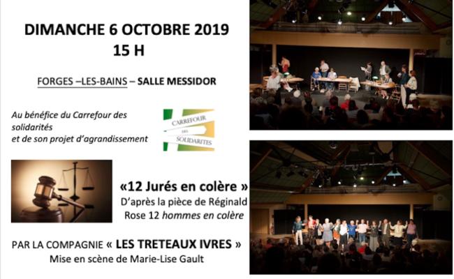 """Dimanche 6 octobre 2019 : Une belle soirée avec les """"12 jurés en colère"""""""