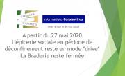 """A partir du 27 mai 2020, l'épicerie sociale en période de déconfinement reste en mode """"drive"""""""