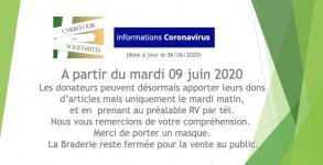 CdS dons Braderie à partir du 06/06/2020