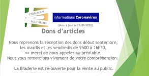Braderie dons d'articles