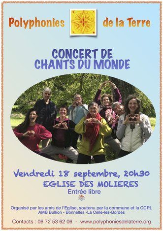 Concert Les Molières 18 septembre 2020
