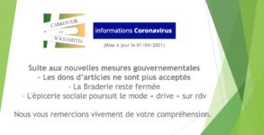 Braderie: accueil suspendu des dons d'articles