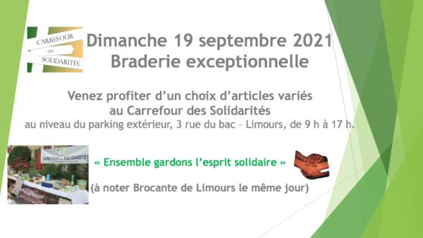 Dimanche 19 sept.2021 Braderie exceptionnelle
