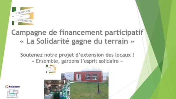 Campagne de financement participatif «La Solidarité gagne du terrain»